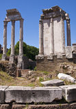 The Roman Forum. Is a rectangular forum surrounded by the ruins of several important ancient government buildings at the center of the city of Rome Royalty Free Stock Photo