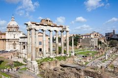roman forum Fotografia Royalty Free