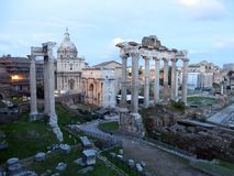 Roman Forum in the city of Rome in Italia stock images