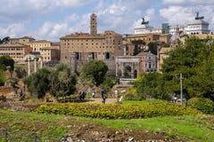 Roman Forum, altes Rom Lizenzfreies Stockfoto