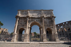 Roman forum. Arch of Constantine. The ruins of Roman forum. Arch of Constantine. Rome, Italy Royalty Free Stock Photography