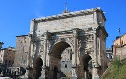 Free Roman Forum Arch Of Septimius Severus Stock Image - 84060211