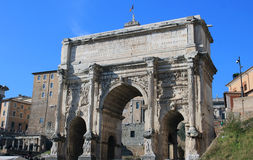 Roman forum arch of septimius severus. Arch of septimius severus in the Roman forum, Rome Stock Image