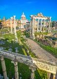 Roman Forum, Italy. Roman Forum Archeological Site, Rome, Italy Stock Image