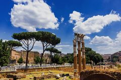 Roman Forum Architecture im Rom-Stadtzentrum stockfoto