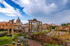 Roman Forum Architecture im Rom-Stadtzentrum stockbilder