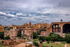 Roman Forum Architecture im Rom-Stadtzentrum stockbild