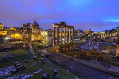 Roman Forum au lever de soleil Images stock