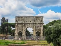 Roman Forum - båge av Constantine Royaltyfria Bilder