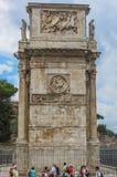 Roman Forum - båge av Constantine Side View Arkivbild