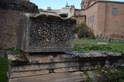 Roman Forum Roman Forum, båge av Septimius Severus, arkeologisk plats, forntida historia, historisk plats, vägg Royaltyfri Foto