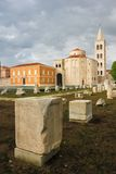 Roman forum and Church of St. Donat. Zadar. Croatia Stock Photo
