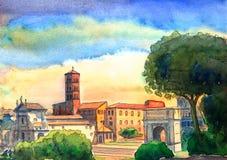 Roman Forum cityscape Stock Photo