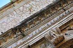 Roman Forum. Close-up of architrave of the Arch of Titus; Forum Romanum, Rome Stock Images