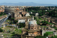 The Roman Forum and the Colosseo, Rome Royalty Free Stock Photography