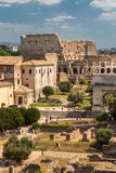 The Roman Forum and Colosseum Stock Image