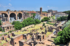 Roman Forum in Rome, Italy. Roman Forum and Colosseum in Rome, Italy stock photography