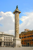 Roman forum-column Stock Photos