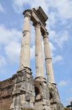 Roman Forum Columns. The Roman Forum on a spring day. Photo taken April 2015 Royalty Free Stock Photos