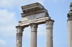 Roman Forum Columns Stock Image