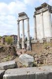 Roman Forum Columns Stock Photography