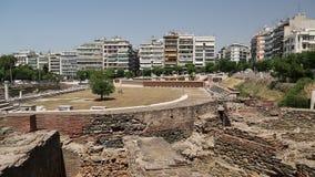 Roman Forum de Salonique - forum antique de Romain-ère de la ville, agora banque de vidéos