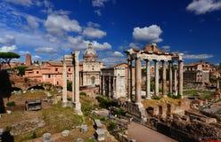 Roman Forum de visite Photo stock