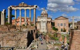 Roman Forum de visite Photographie stock