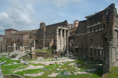 The Roman Forum east. Ruins in the roman forum Royalty Free Stock Photos