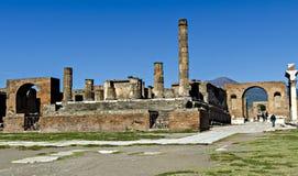 Roman Forum em Pompeii Fotos de Stock Royalty Free