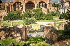 Roman Forum en été, Rome, Italie photo stock