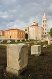 Roman forum en Kerk van St Donat Zadar Kroatië Stock Foto