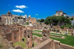 Roman Forum en Palatine Heuvel Royalty-vrije Stock Afbeelding