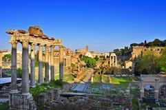 Roman Forum en Roma, Italia Foto de archivo libre de regalías