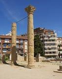 Roman Forum en Tarragona moderna, España Imagen de archivo libre de regalías
