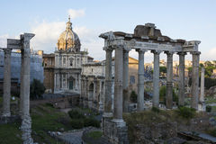 Roman Forum. Evening shot of the Forum in Rome Royalty Free Stock Photography