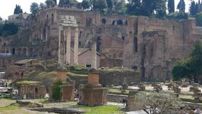 Roman Forum fördärvar italy rome lager videofilmer