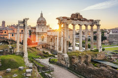 Roman Forum famoso em Roma Fotografia de Stock