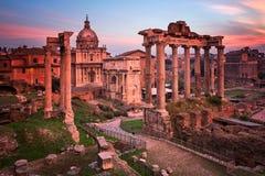Roman Forum Foro Romano in the Morning, Rome, Italy Royalty Free Stock Image