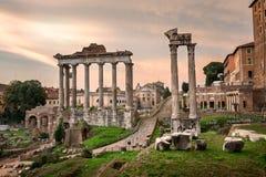 Roman Forum Foro Romano in the Morning, Rome, Italy Royalty Free Stock Photos