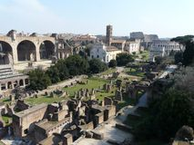 The Roman Forum (Foro Romano) in Rome, Italy Royalty Free Stock Photography