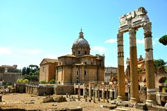 The Roman Forum, Foro Romano, Rome, Italy Stock Photos