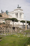 Roman Forum. Here there was the social life of the city. Rome Royalty Free Stock Photo