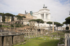 Roman Forum. Here there was the social life of the city. Rome Stock Image