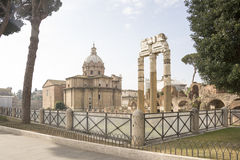 Roman Forum. Here there was the social life of the city. Rome Stock Photography