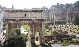 Roman Forum Hier was er het sociale leven van de stad rome Stock Afbeeldingen