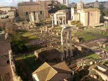 Roman Forum, historic site, ancient rome, archaeological site, city. Roman Forum is historic site, city and unesco world heritage site. That marvel has ancient stock images