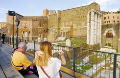 Roman Forum historisk mitt för Rome ` s, Italien Royaltyfri Fotografi
