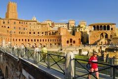 Roman Forum historisk mitt för Rome ` s, Italien Arkivbilder