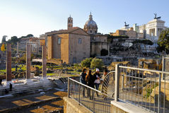 Roman Forum historisk mitt för Rome ` s, Italien Royaltyfri Foto